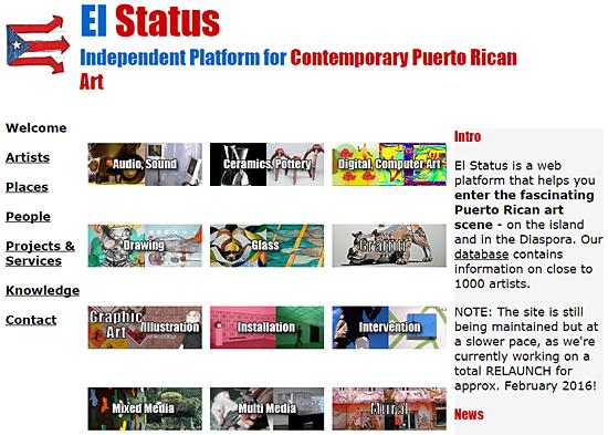 el status pagina de arte de puerto rico