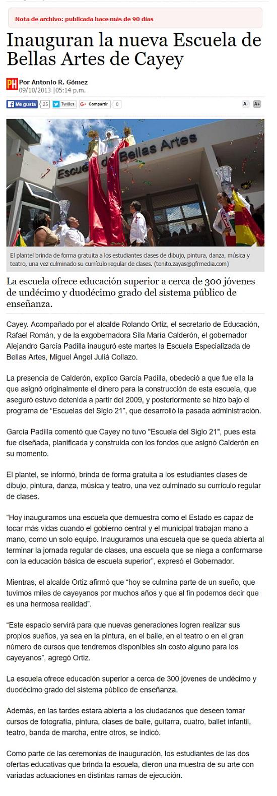 Escuela de Bellas Artes de Cayey-Autogiro arte actual