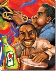 Cartel para el Heineken Jazz Fest_autogiro arte actual