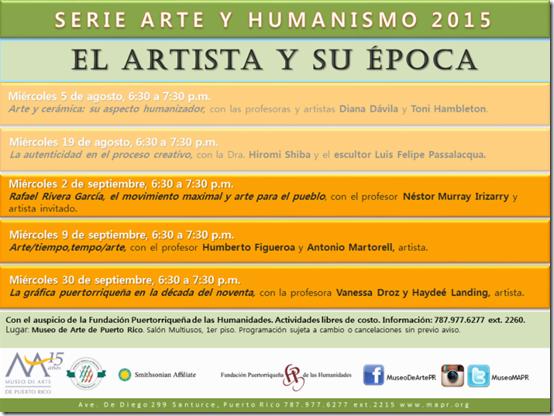 Conferencias Arte y Humanismo en MAPR