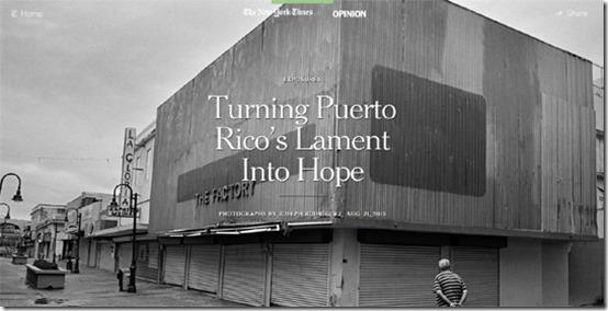 Nuestro Rostro cultural y Reportajes internacionales de la crisis en PR3_autogiro arte actual