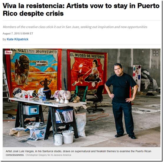 Nuestro Rostro cultural y Reportajes internacionales de la crisis en PR_autogiro arte actual