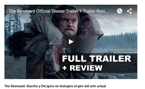 The Revenant: Iñarritu y DiCaprio