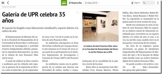 35 años de la Galería Oller reportaje-Autogiro arte actuall