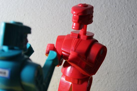 Blue Robot vs Robot Rojo-Marcel Sánchez-Autogiro arte actual