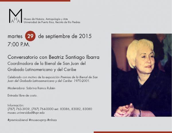 Conversatorio de Grabado | Beatriz Santiago Ibarra