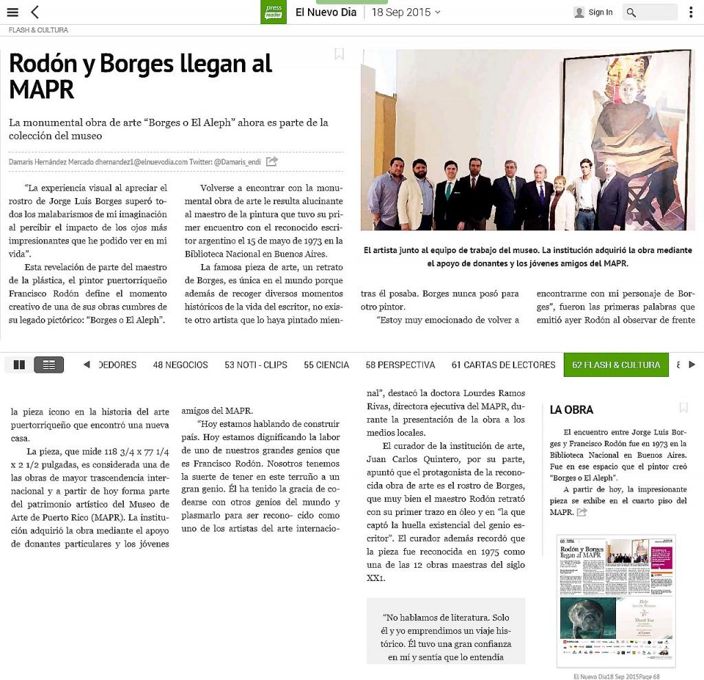 El Borges de Rodón en MAPR-autogiro arte actual