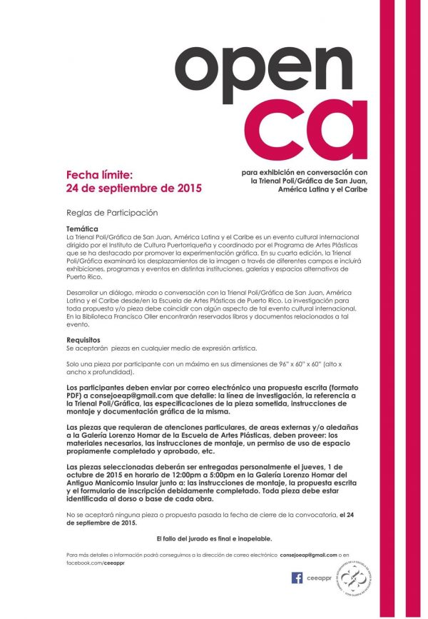 open call poigrafica