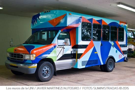 Los muros de la UNI 1 Autogiro arte actual - Murales de la UPR Bayamón