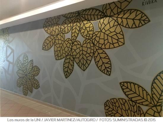 Los muros de la UNI 6 Autogiro arte actual - Murales de la UPR Bayamón
