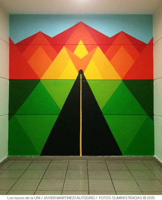 Los muros de la UNI 8 Autogiro arte actual - Murales de la UPR Bayamón