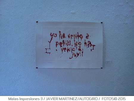 Malas impresiones exhibición de gráfica en galería Guatibiri