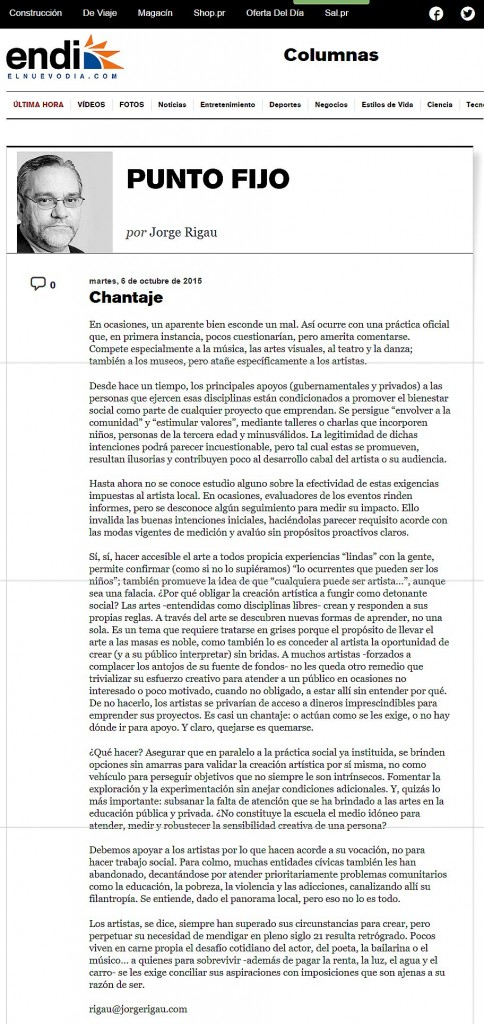 chantaje-jorge Rigau-Autogiro arte actual