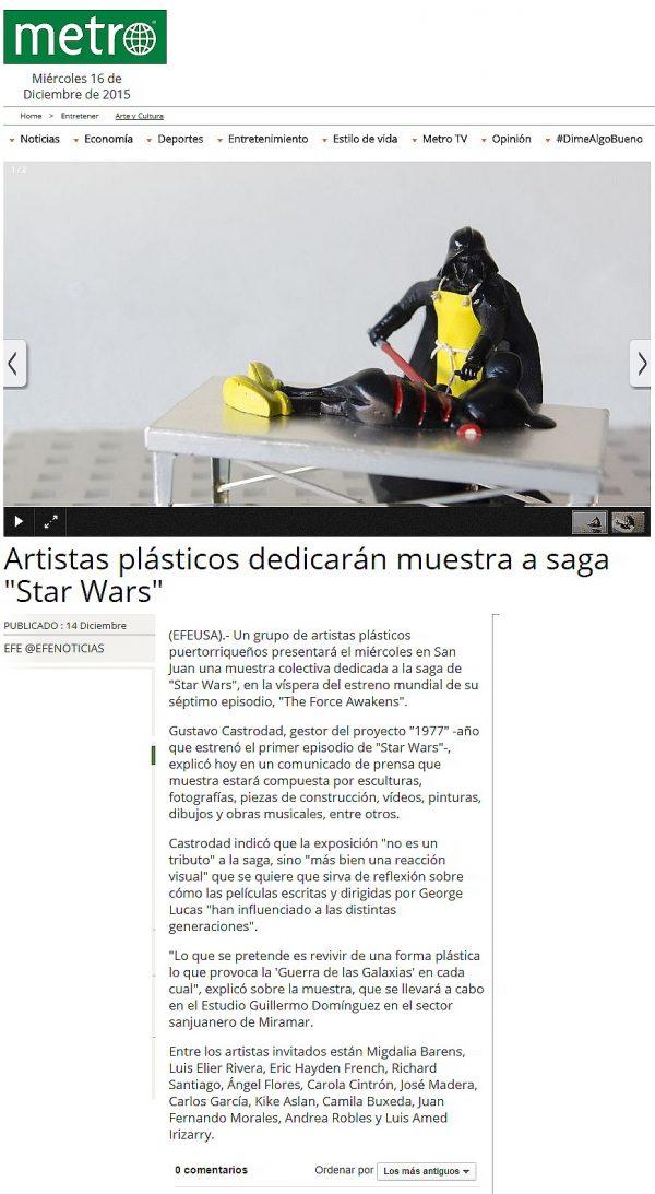 Cultura Star Wars-reportaje Exhibición 1977-Autogiro arte actual