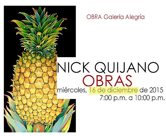 Nick Quijano Obras