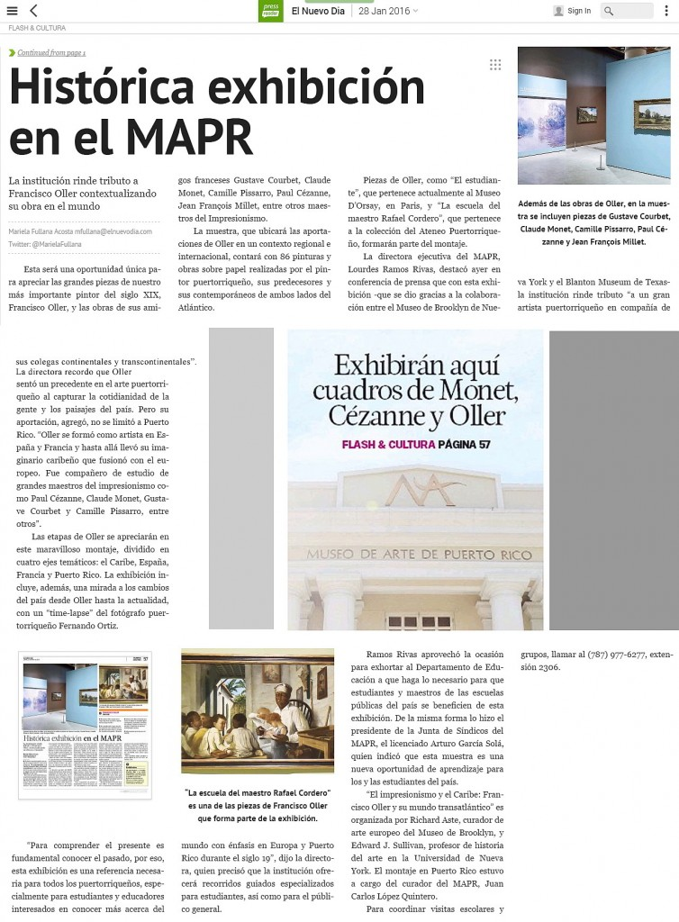 86 Pinturas impresionistas en MAPR