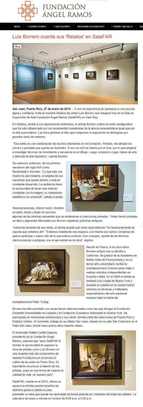 Luis Borrero 12 pinturas fundacion angel ramos