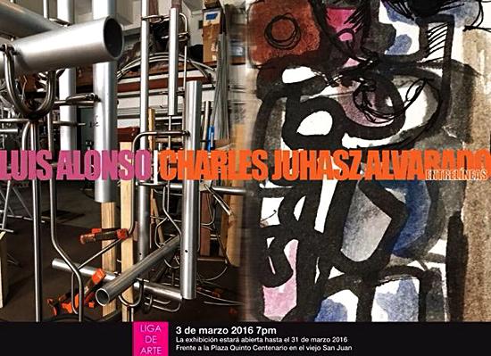 Luis Alonso y Charles Juhasz en la Liga de Arte