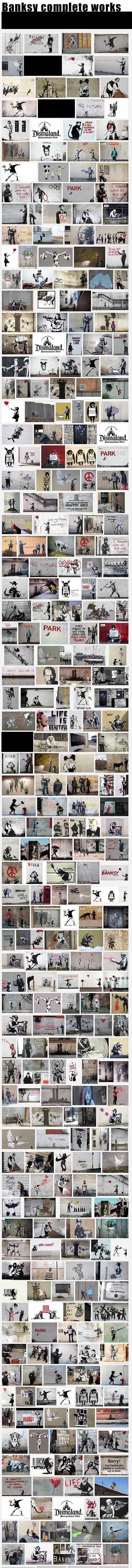 Toda la obra del artista urbano Banksy-Autogiro arte actual