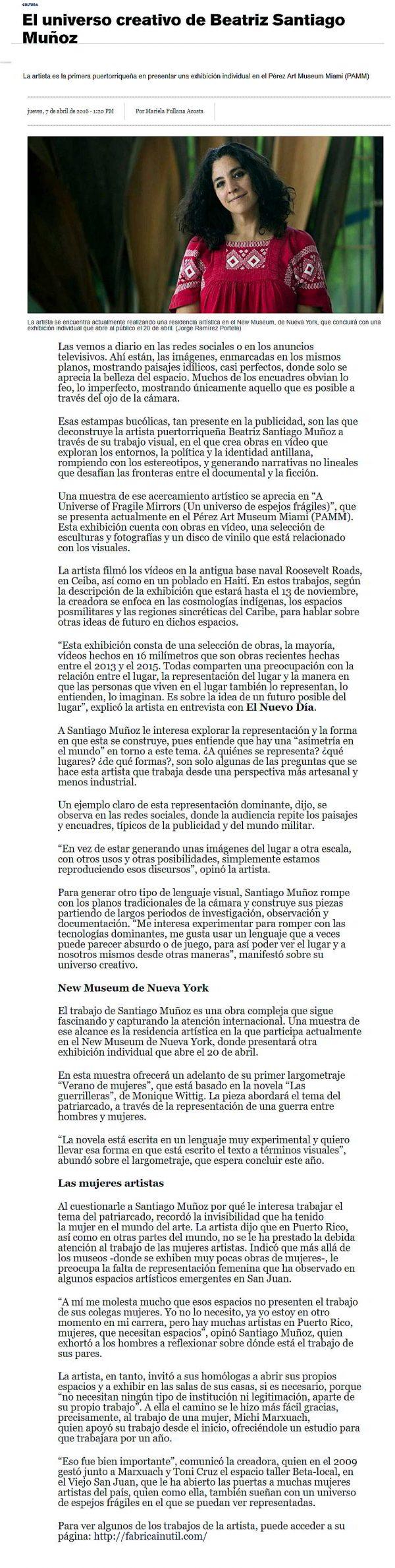 Beatriz Santiago Muñoz-autogiro arte actual