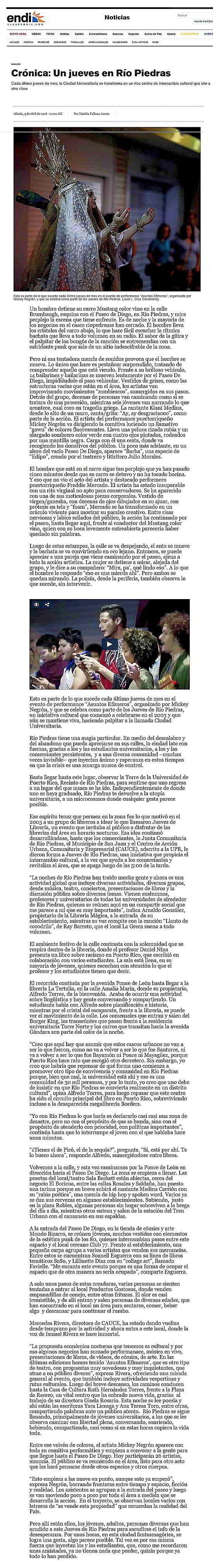 Jueves Cultural-Rio Piedras-Autogiro arte actual