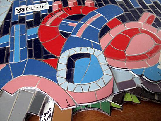 Presencia e Identidad- Mural-Cidra-mosaico detalle-Autogiro arte actual