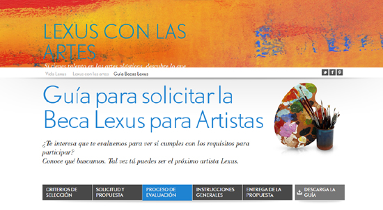 Guía Beca Lexus | Arte contemporáneo