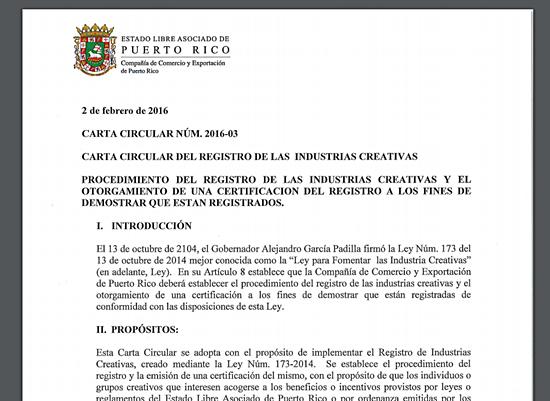 Industrias Creativas- Ley 173-carta circular-Diseño-Autogiro arte actual