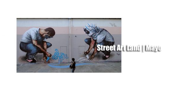 Street art land mayo | Autogiro Arte Actual