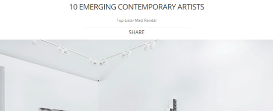 10 EMERGING CONTEMPORARY ARTISTS-Autogiro arte actual