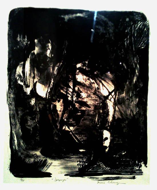 Grabado de Somoza #despojos-Museo de las Americas-Autogiro arte actual