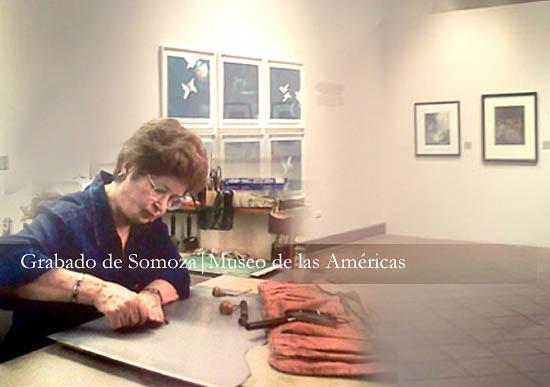 Maria Emilia Somoza grabado,Museo de las Americas