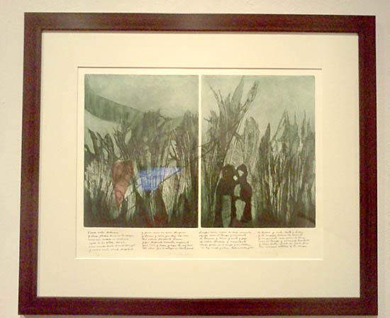 Intaglio de Somoza-Grabado poemas-Museo de las Americas-Autogiro arte actual