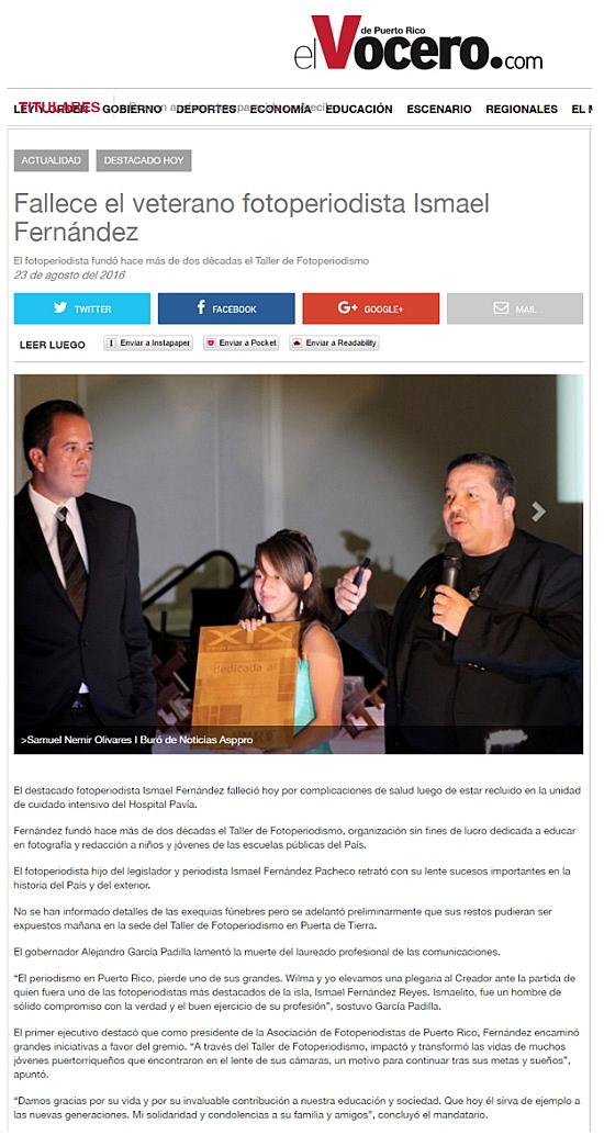 Fallece el veterano fotoperiodista Ismael Fernández-autogiro arte actual