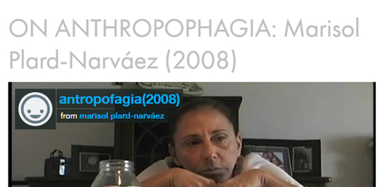 Marisol Plard-Narváez ON ANTHROPOPHAGIA-Autogiro arte actual