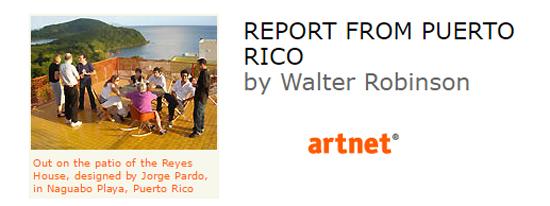 report from puerto rico walter robinson-Autogiro arte actual