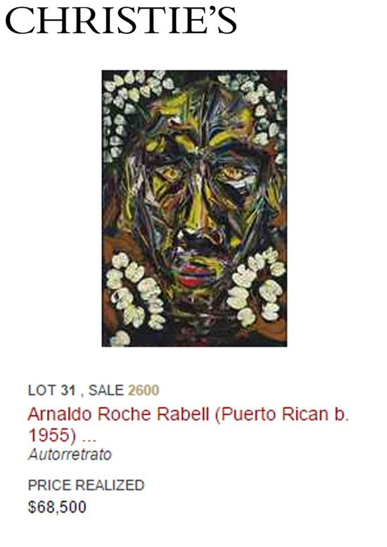 Arnaldo Roche-Puerto rican artists at art auctions-Autogiro arte actual