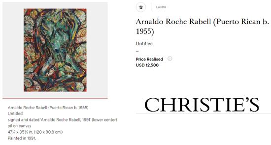 Arnaldo Roche Rabell-Puerto rican artists at art auctions-Autogiro arte actual