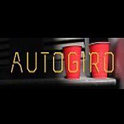 autogiro el giro del arte actual logo o identidad