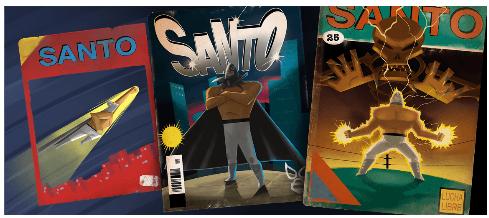 comic-lucha-libre-mexicna-con-el-santo-en-google-autogiro-arte-actual