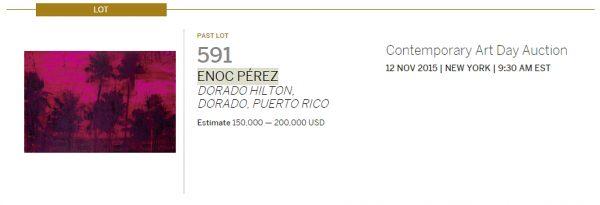 ENOC PÉREZ-Puerto rican artists at art auctions-Autogiro arte actual