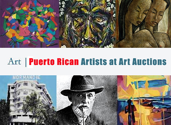 Puerto Rican Artists at Art Auctions