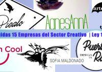 Escogidas 15 Empresas del Sector Creativo  | Ley 173