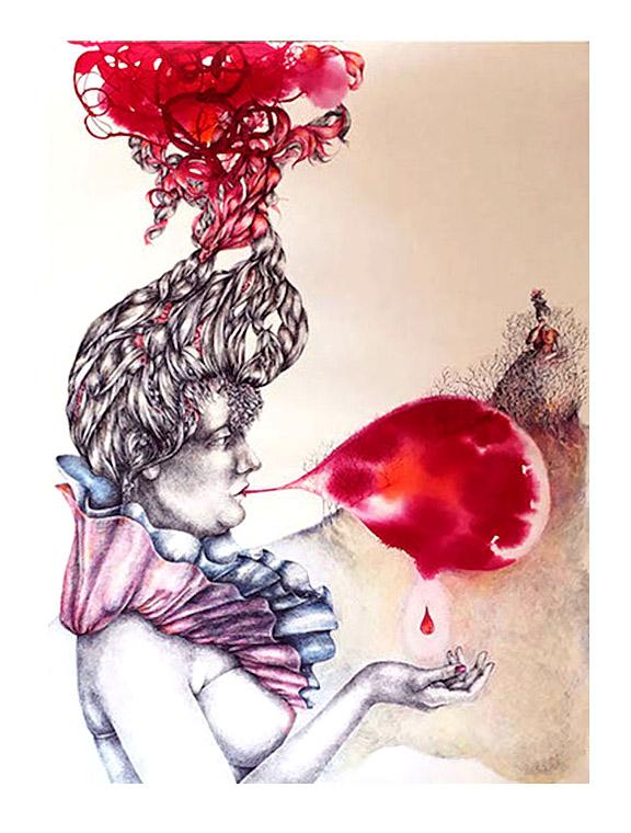 la-burbuja-roja-tinta-30x-22-maria-antonia-autogiro-arte-actual
