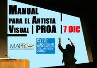 Manual para el Artista Visual | PROA | 7 Dic