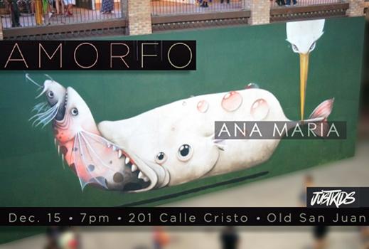 exhibición Amorfo de Ana Maria