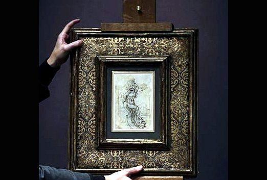 San sebastián Da Vinci dibujo | Autogiro arte actual | arte contemporáneo