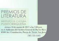Premios de Literatura | ICP | Puerto Rico