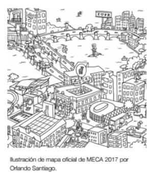 mapa oficial de MECA-autogiro arte actual