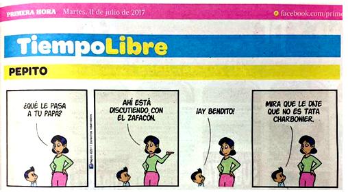 Pepito-Charbonier-zafacon-tira-humor. | Autogiro Arte Actual